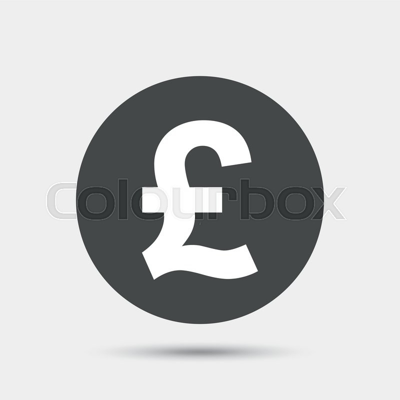 Pound Sign Icon Gbp Currency Symbol Money Label Gray Circle