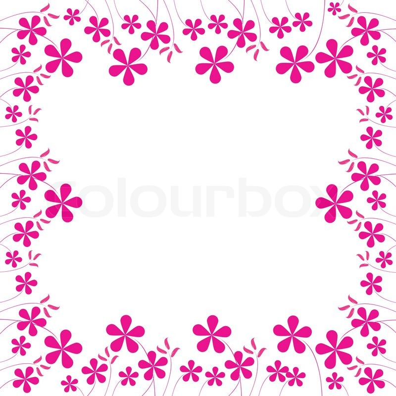 Chinese Flower Vector Stock Vector of 39 Pink Flowers