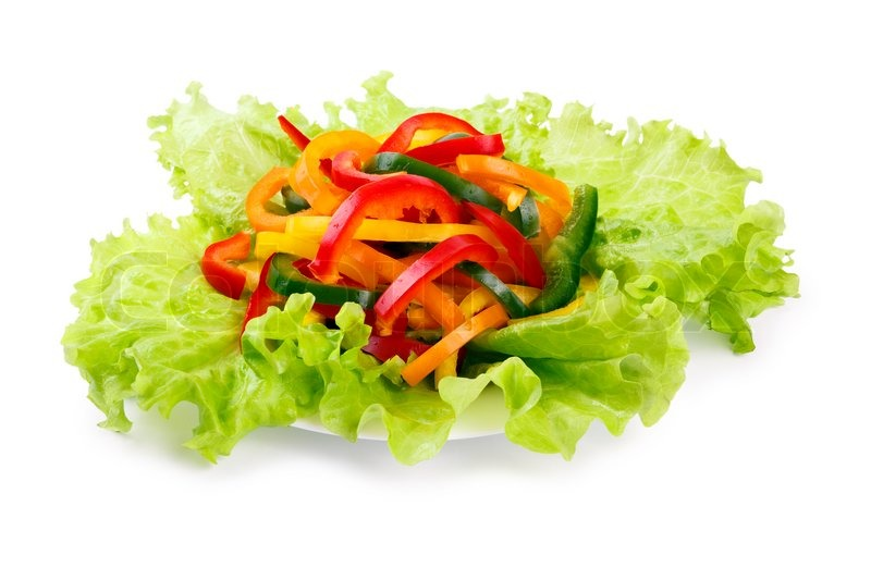 Mix Of Fresh Vegetables From A Colored Stock Image
