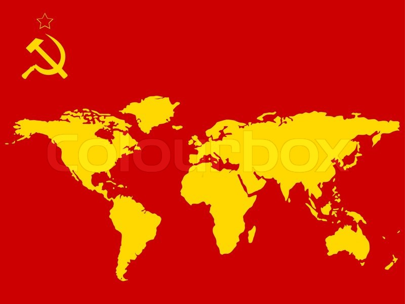 Russian Flag Colors And World S Map Stock Vector Colourbox