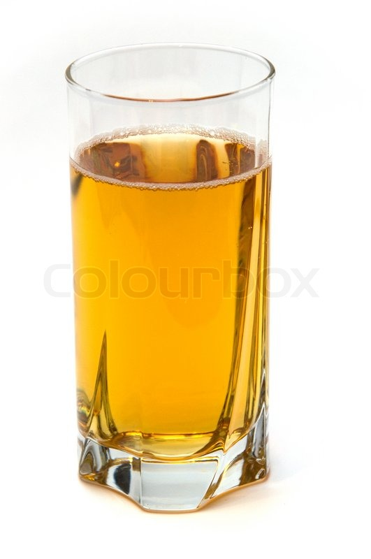 Glass of apple juice isolated on white background   Stock ...