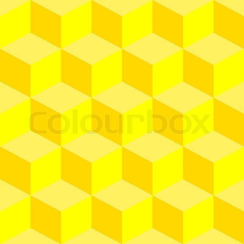 3d gelbe quadrate muster abstrakte kunst stockfoto. Black Bedroom Furniture Sets. Home Design Ideas