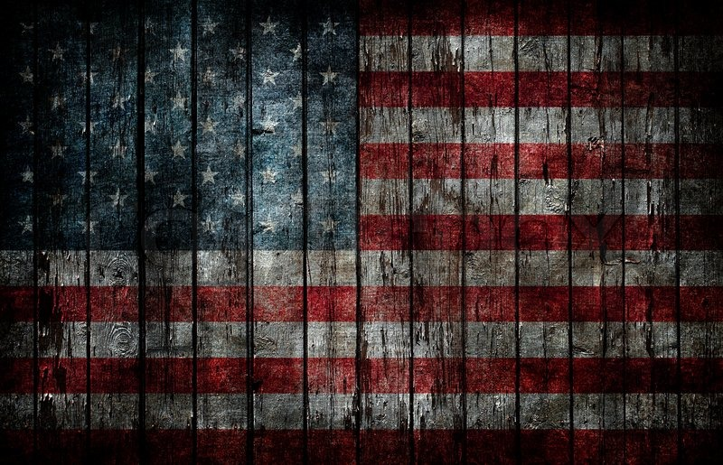 american flag painted on fence background stock photo colourbox
