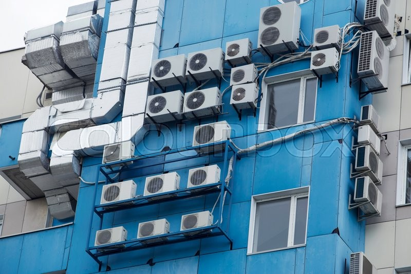 Stock image of 'the air conditioning system installed in a building'