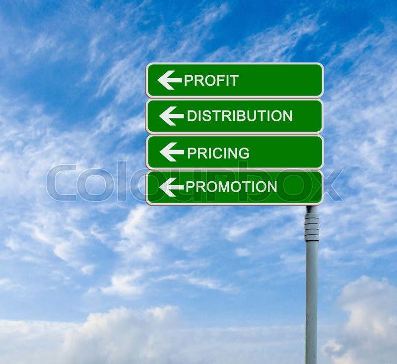 Stock image of 'Direction road sign to profit'
