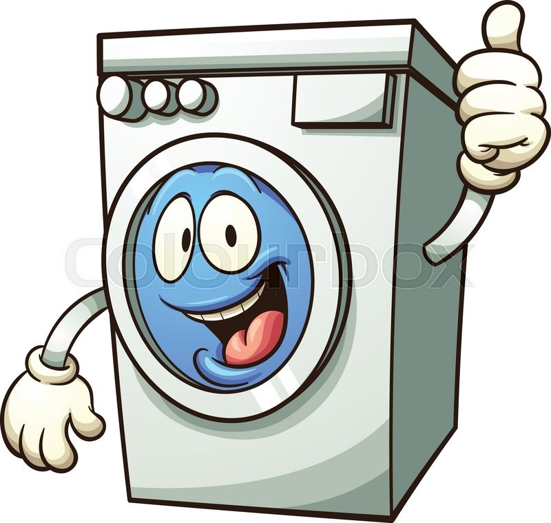 Cartoon Washer And Dryer ~ Cartoon washing machine vector clip stock