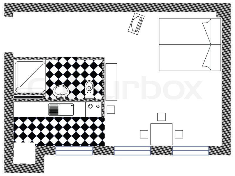 Interior Design Blueprint, Abstract Art Illustration | Stock Photo |  Colourbox