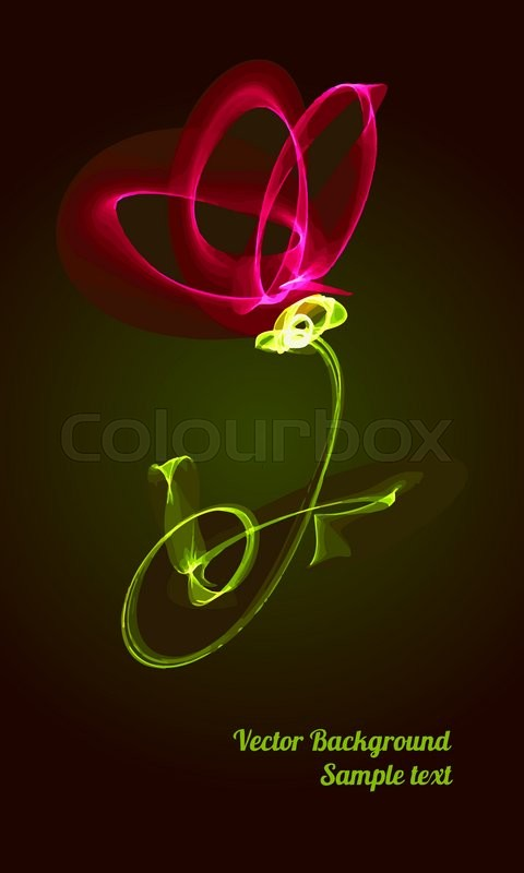 Romantic card with the image of a glowing neon flower decor design romantic card with the image of a glowing neon flower decor design greeting cards wedding invitations marriage bridal birthday valentines day m4hsunfo Gallery