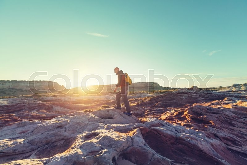 Stock image of 'Hike in the Utah mountains'