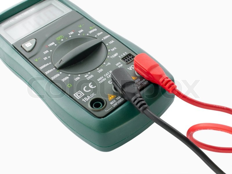Measuring Electrical Equipments : Digital multimeter electrical measuring equipment close up