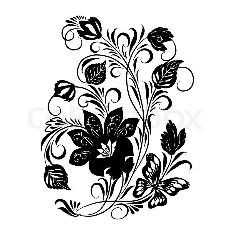 Черно белая роспись рисунки