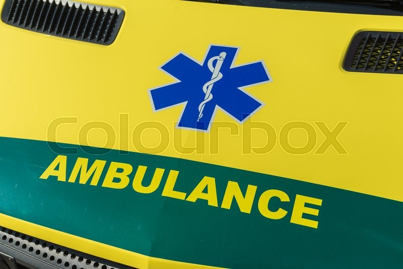 Stock image of 'gul, ambulance, denmark'