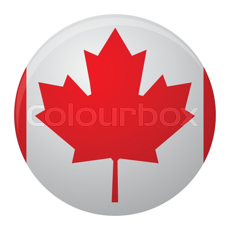 Canada Flag Icon Flat Symbol Of Canada Country And Vector Sign