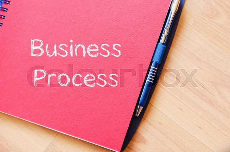 Stock image of 'Business process text concept write on notebook'