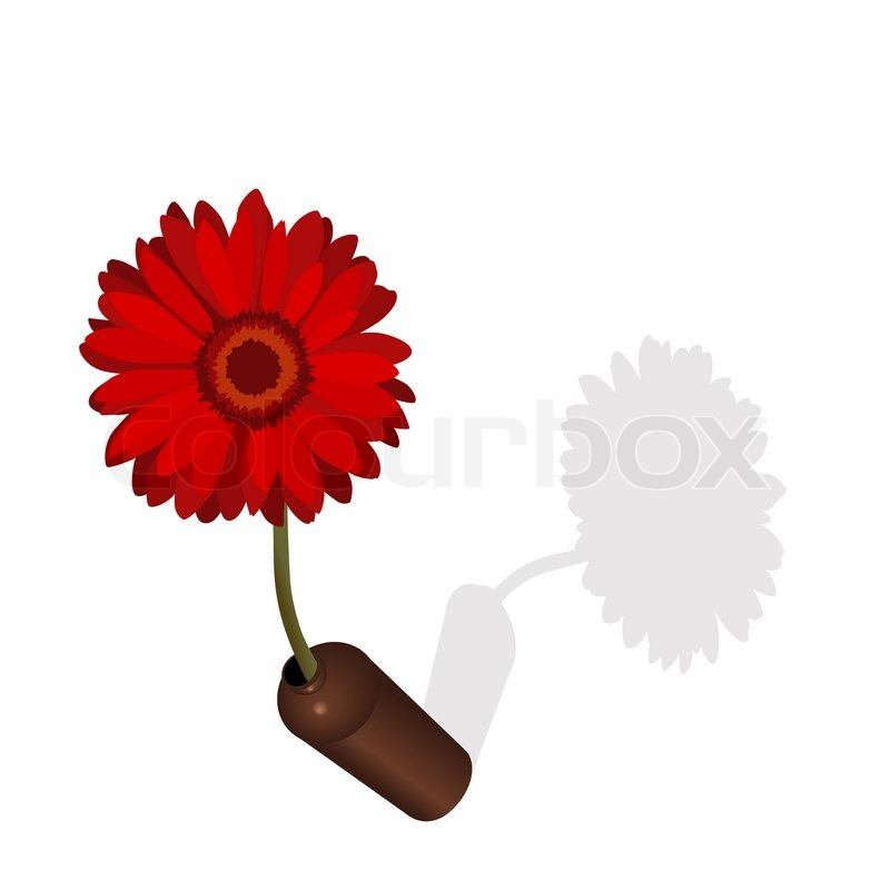 50 Shades Of Fabulous Svg: Red Daisy Flower In Vase And Its Shade