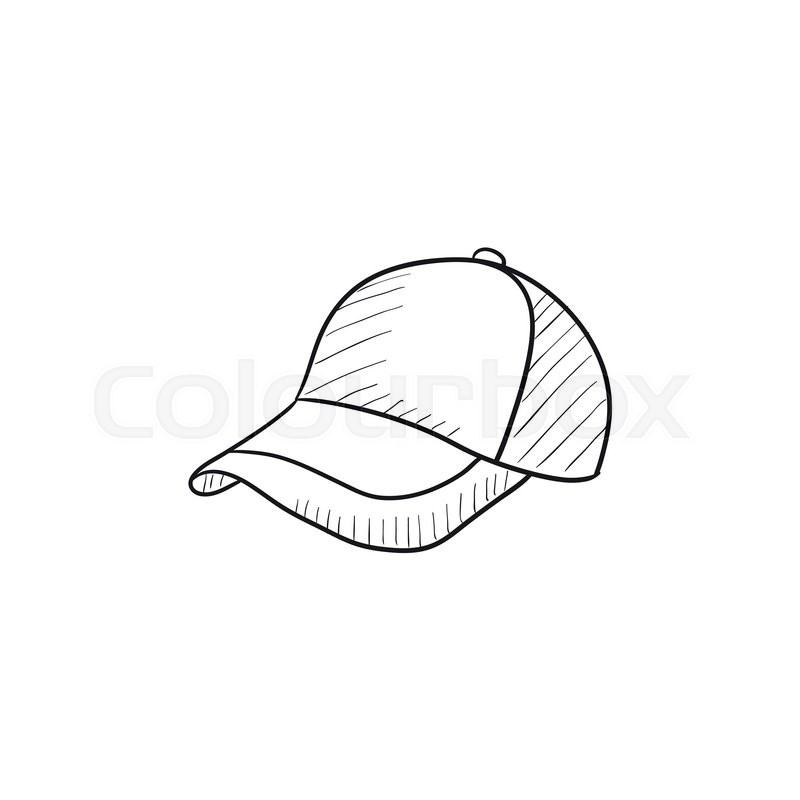 Baseball Hat Sketch Icon For Web Mobile And Infographics