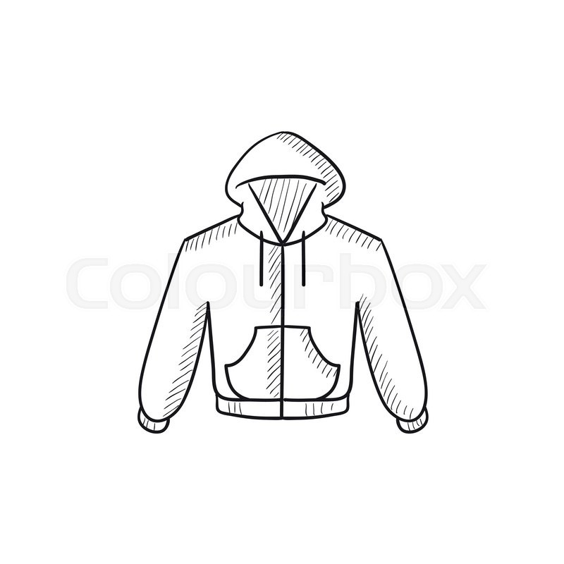 how to draw a hoodie from the side