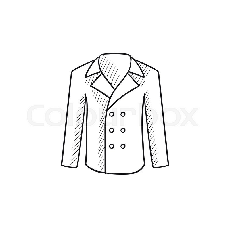 male coat vector sketch icon isolated stock vector colourbox