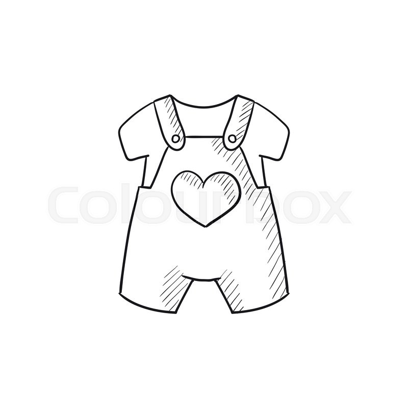 ffeac9f13448 Baby overalls and shirt vector sketch icon isolated on background. Hand  drawn Baby overalls and shirt icon. Baby overalls and shirt sketch icon for  ...