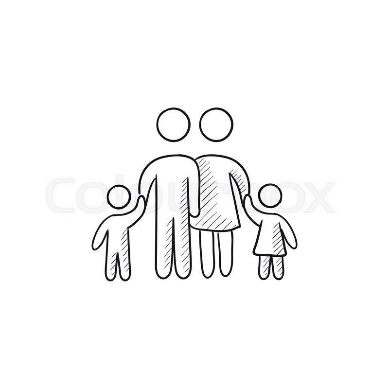 family vector sketch icon isolated on background hand handshake vector logo handshake vector icon free download