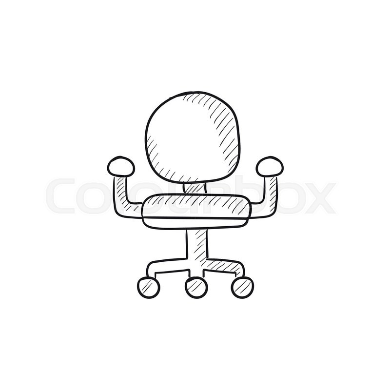 office chair drawing.  Chair Office Chair Vector Sketch Icon Isolated On Background Hand Drawn  Icon For Infographic Website Or App To Chair Drawing