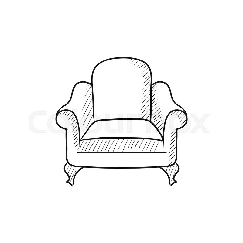 Merveilleux Armchair Vector Sketch Icon Isolated On Background. Hand Drawn Armchair  Icon. Armchair Sketch Icon For Infographic, Website Or App.