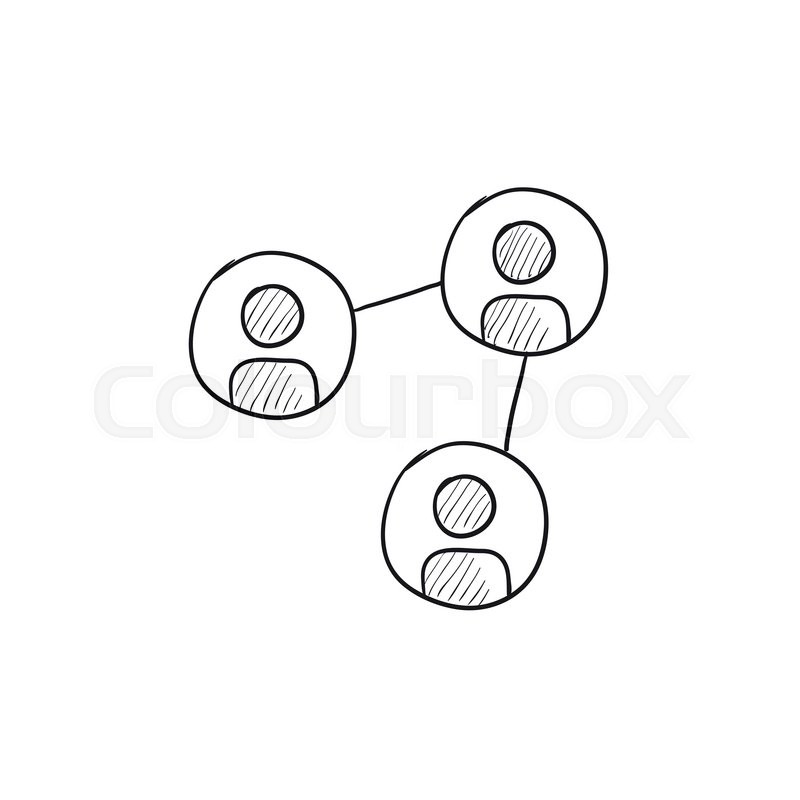 social network vector sketch icon isolated on background  hand drawn social network icon  social