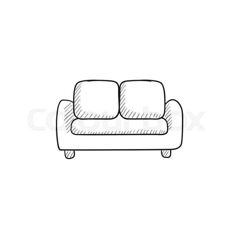 Sofa Vector Sketch Icon Isolated On Stock Vector Colourbox