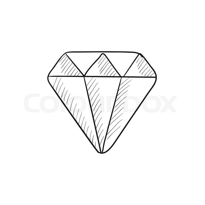Diamond vector sketch icon isolated on background hand drawn diamond icon diamond sketch icon for infographic website or app vector