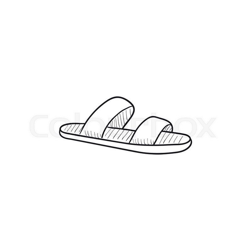 73e4ea71f Flip-flops vector sketch icon isolated ...