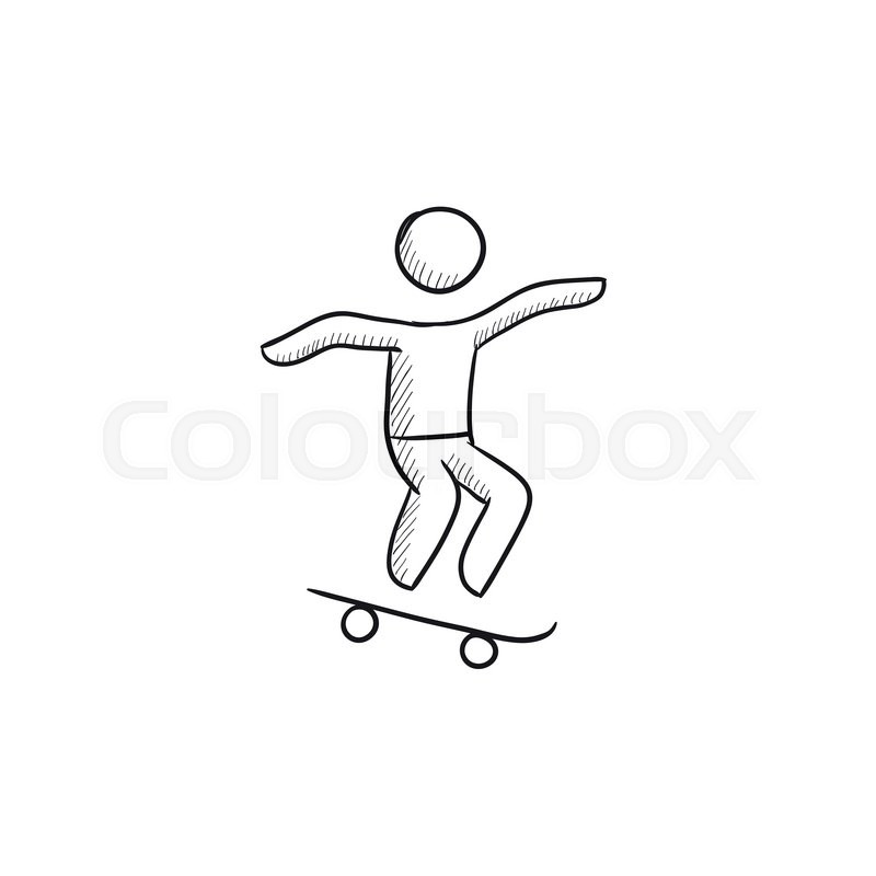 How to Draw a Skateboard, Step by Step, Sports, Pop Culture, FREE ...
