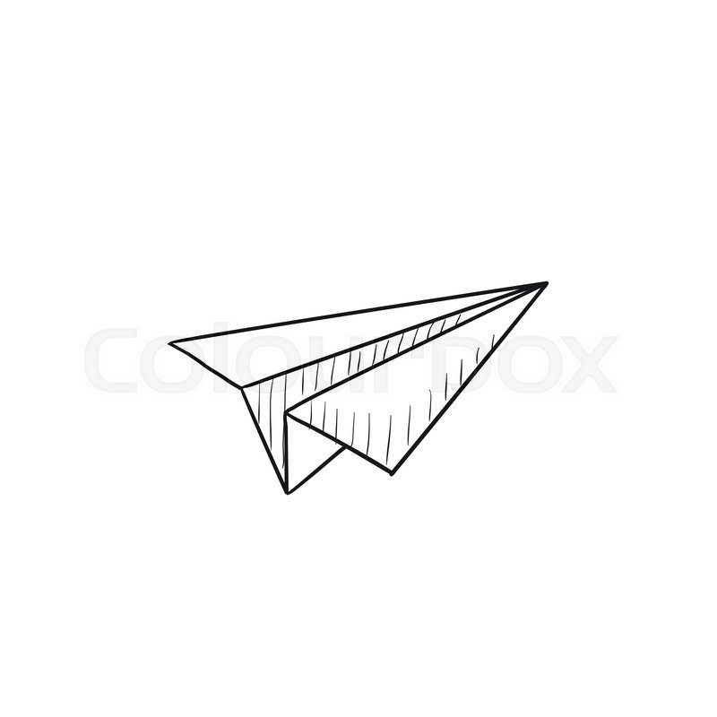 paper airplane vector sketch icon isolated on background hand drawn rh colourbox com paper airplane vector image paper airplane vector graphic free