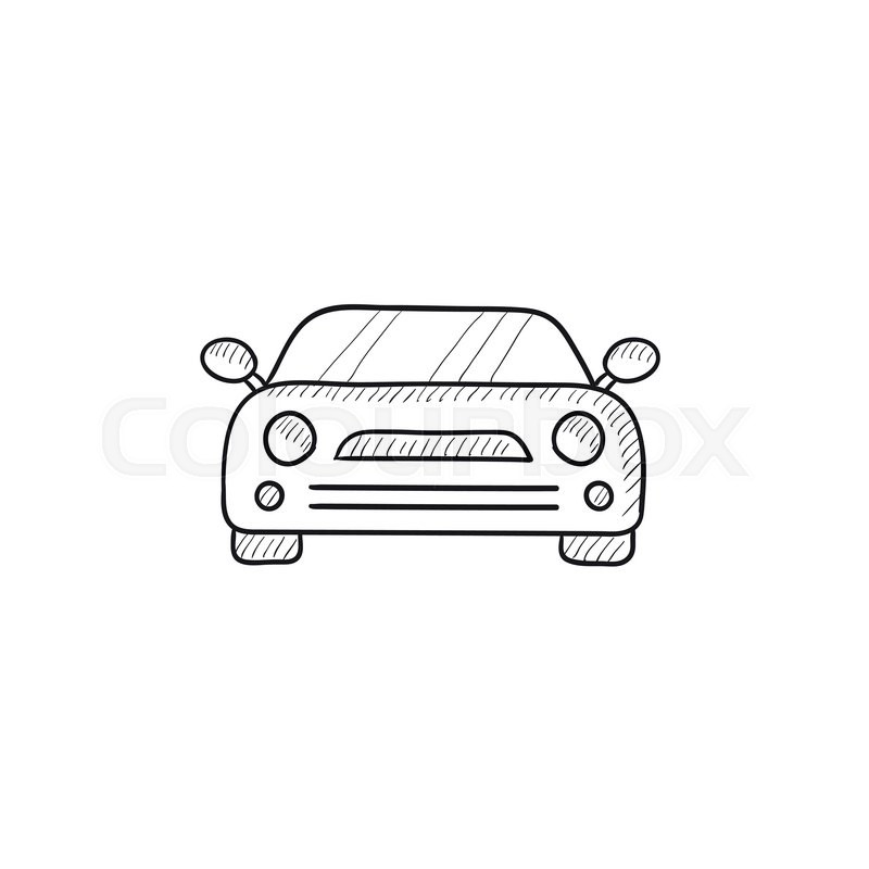 Car vector sketch icon isolated on background. Hand drawn Car icon ...