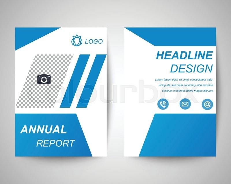 Blank flyer templates erkalnathandedecker blue blank annual report abstract flyer layout template brochure maxwellsz