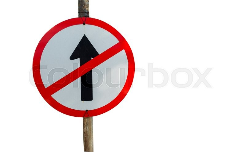 Traffic Signs Symbols On The Road Stock Photo Colourbox