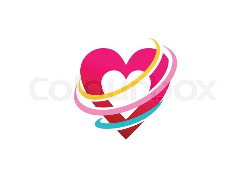 Elegance Heart Shape Logo Beauty Love Sign Symbol Icon Vector Desig
