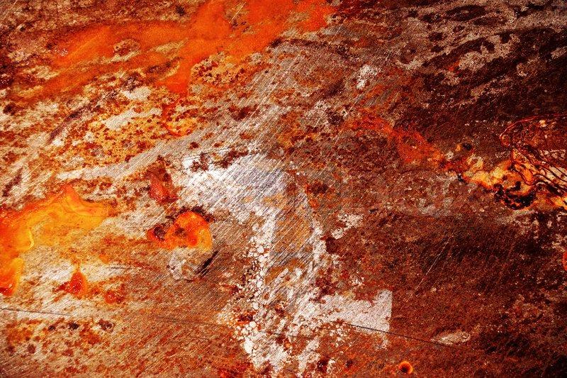 stock bild von red zerkratzt metall grunge oberfl che mit korrosion