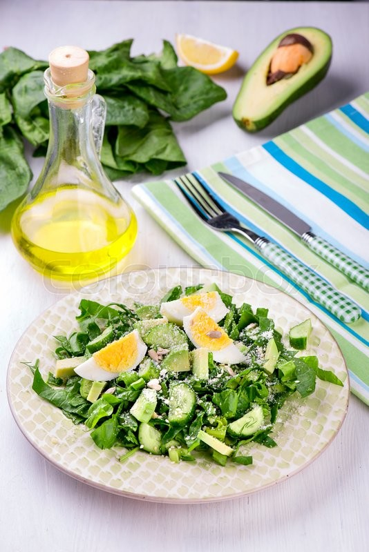 Stock foto af 'top, romainesalat, rucola'