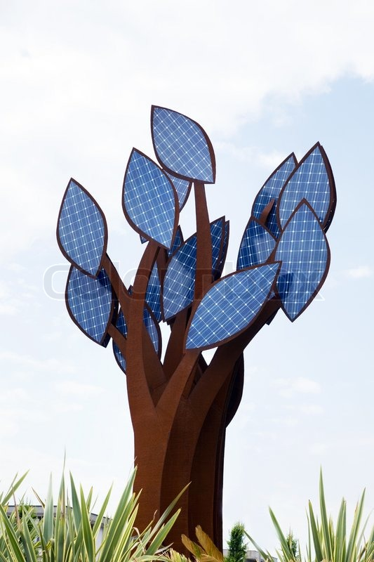 A Tree With Leaves Of Solar Collectors Alternative Energy