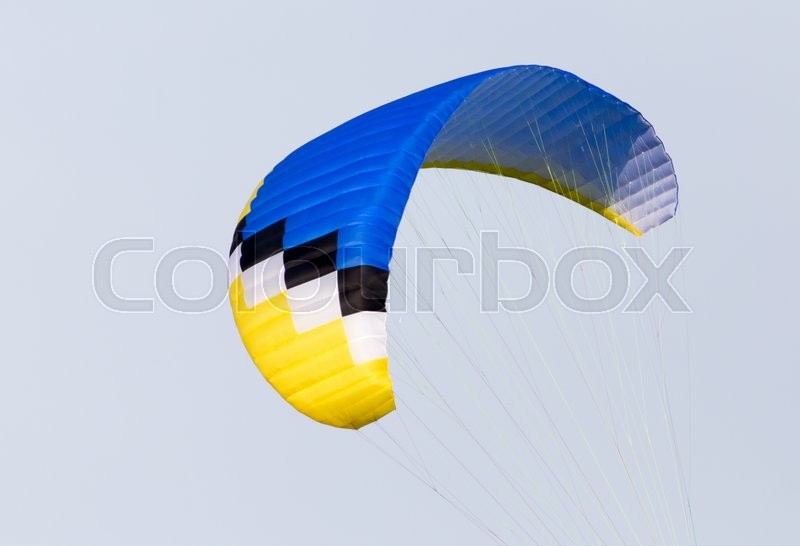 Stock image of 'Parachute on a sky background'