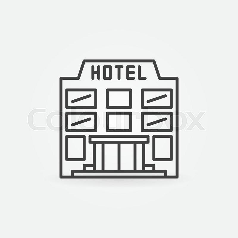 Hotel Building Icon - Vector Simple ...