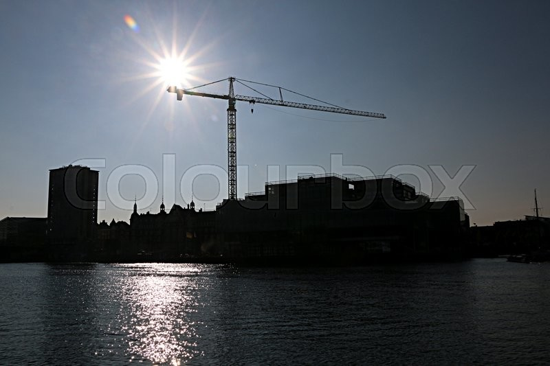 Stock image of 'construction, havn, vand'