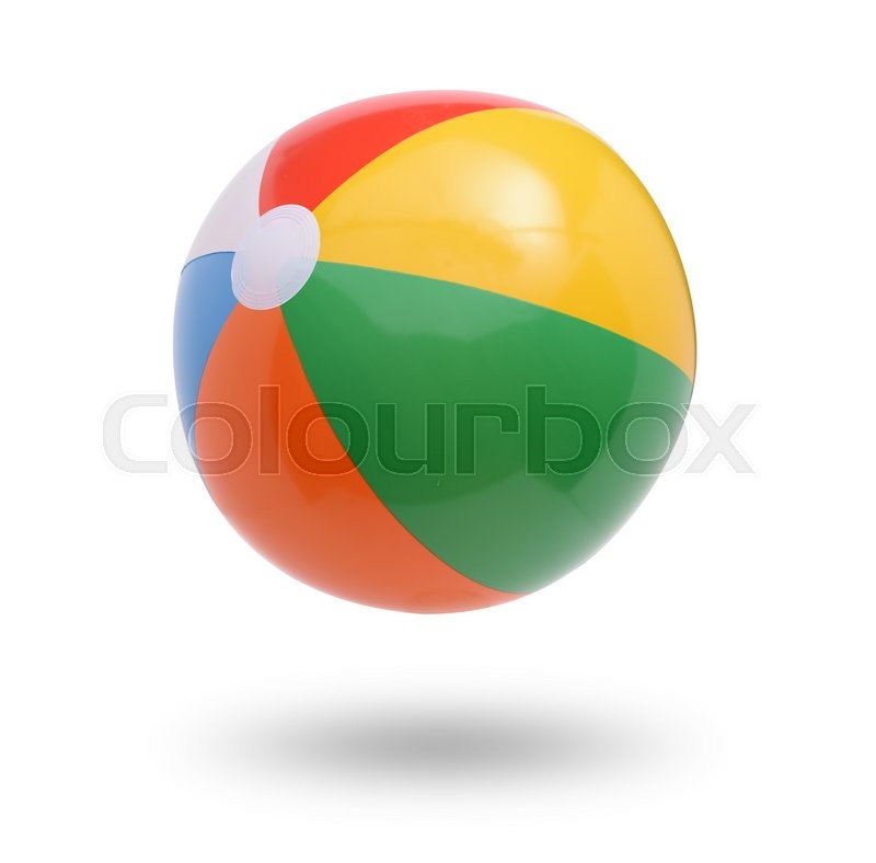 Stock image of 'Beach ball isolated on white '