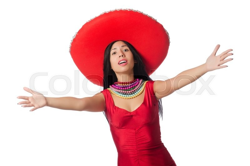 Stock image of 'Mexican woman in fashion concept'