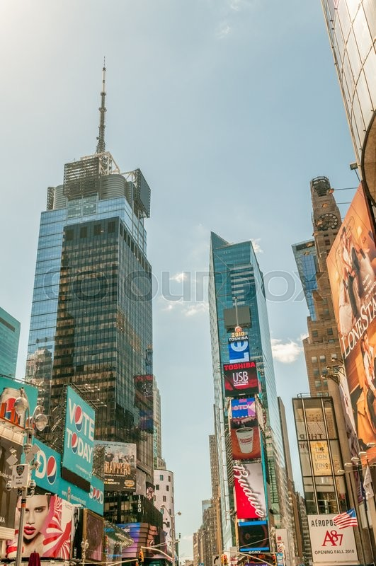 Editorial image of 'New York - SEPTEMBER 5, 2010: Times Square on September 5 in New York, USA. Times Square is a popular attraction in New York'