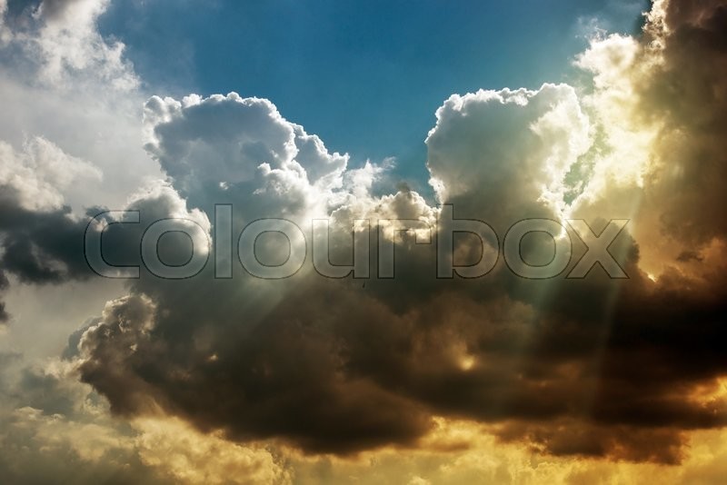 Stock image of 'Stormy Atmosphere Nature Photo. Stormy Cloudscape.'