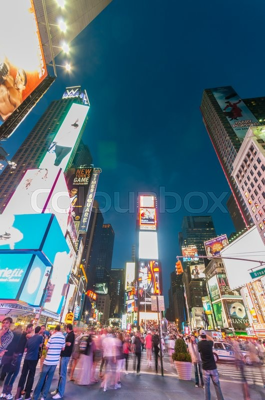 Stock image of 'New York - SEPTEMBER 5, 2010: Times Square on September 5 in New York, USA. Times Square is a popular attraction in New York'