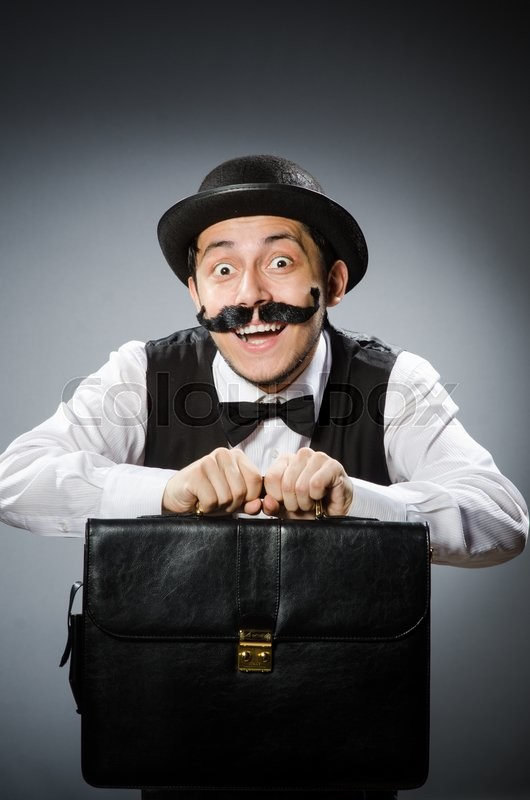 Stock image of 'Funny man in vintage concept'
