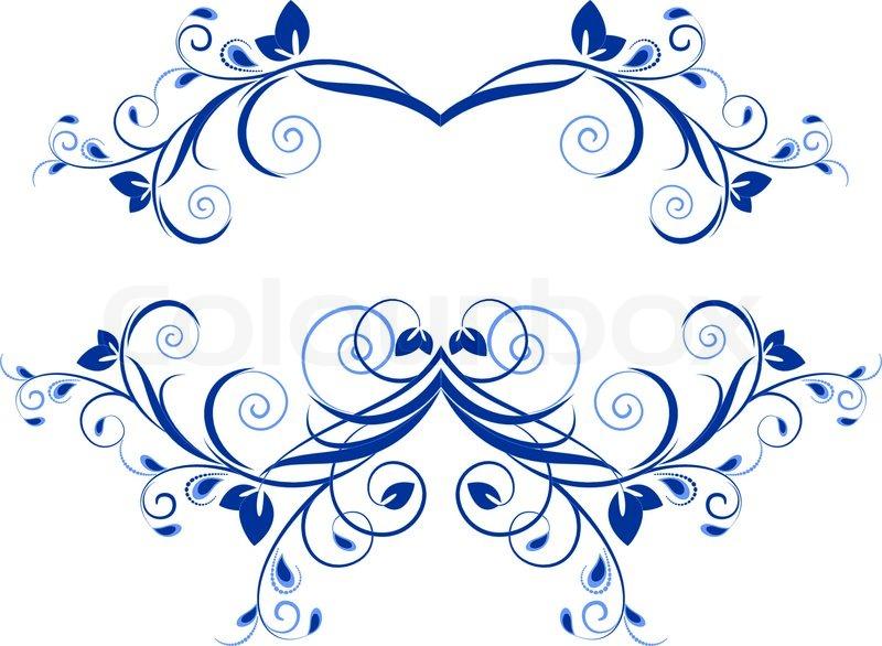 Vintage frame, ornament and element for decoration and design ...
