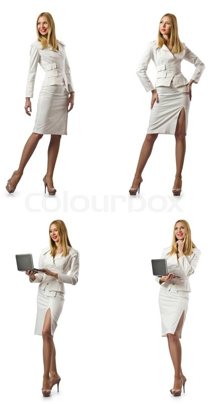 Stock image of 'Woman businesswoman isolated on white'